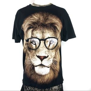Double Sided Lion Graphic Tee